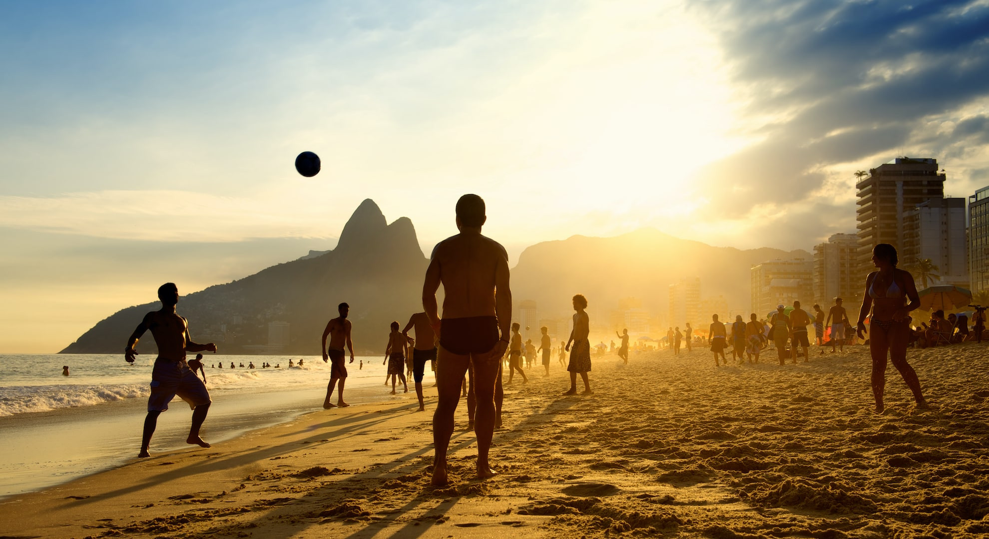Beach football in Rio
